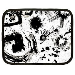 Pattern Color Painting Dab Black Netbook Case (xl)
