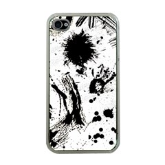 Pattern Color Painting Dab Black Apple iPhone 4 Case (Clear)