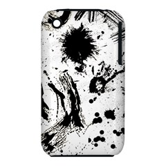 Pattern Color Painting Dab Black iPhone 3S/3GS
