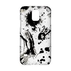 Pattern Color Painting Dab Black Samsung Galaxy S5 Hardshell Case