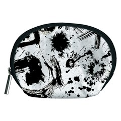 Pattern Color Painting Dab Black Accessory Pouches (medium)