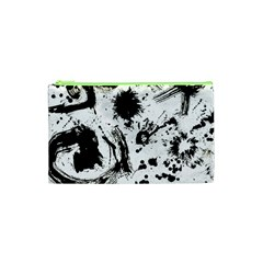 Pattern Color Painting Dab Black Cosmetic Bag (XS)