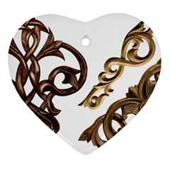 Pattern Motif Decor Ornament (heart)