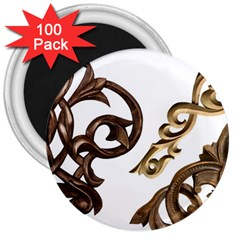 Pattern Motif Decor 3  Magnets (100 pack)