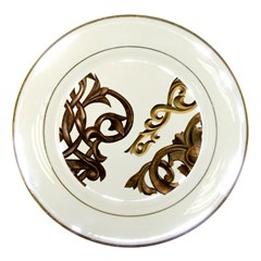 Pattern Motif Decor Porcelain Plates