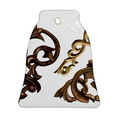 Pattern Motif Decor Bell Ornament (Two Sides)