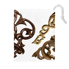 Pattern Motif Decor Drawstring Pouches (Extra Large)