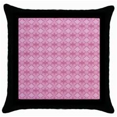 Pattern Pink Grid Pattern Throw Pillow Case (black)