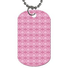 Pattern Pink Grid Pattern Dog Tag (Two Sides)