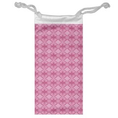 Pattern Pink Grid Pattern Jewelry Bag