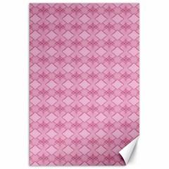 Pattern Pink Grid Pattern Canvas 20  x 30