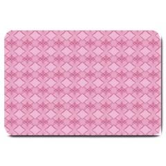 Pattern Pink Grid Pattern Large Doormat