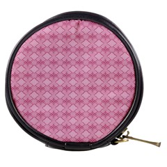Pattern Pink Grid Pattern Mini Makeup Bags