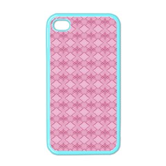 Pattern Pink Grid Pattern Apple iPhone 4 Case (Color)