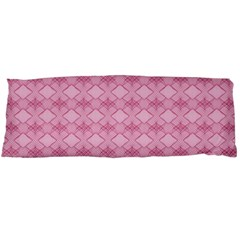 Pattern Pink Grid Pattern Body Pillow Case Dakimakura (two Sides)