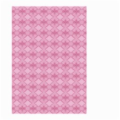Pattern Pink Grid Pattern Small Garden Flag (two Sides)