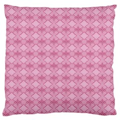 Pattern Pink Grid Pattern Large Cushion Case (Two Sides)