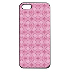 Pattern Pink Grid Pattern Apple iPhone 5 Seamless Case (Black)