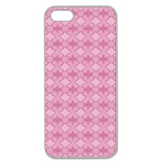 Pattern Pink Grid Pattern Apple Seamless iPhone 5 Case (Clear)