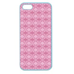 Pattern Pink Grid Pattern Apple Seamless iPhone 5 Case (Color)