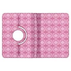 Pattern Pink Grid Pattern Kindle Fire HDX Flip 360 Case