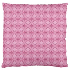Pattern Pink Grid Pattern Large Flano Cushion Case (One Side)