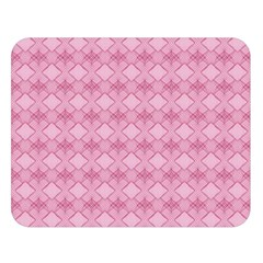 Pattern Pink Grid Pattern Double Sided Flano Blanket (Large)