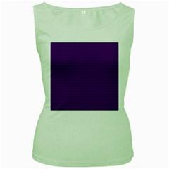 Pattern Violet Purple Background Women s Green Tank Top