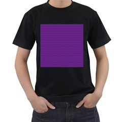 Pattern Violet Purple Background Men s T Shirt (black) (two Sided)