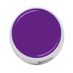 Pattern Violet Purple Background 4 Port Usb Hub (one Side)