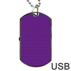 Pattern Violet Purple Background Dog Tag USB Flash (Two Sides)