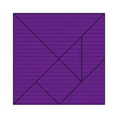 Pattern Violet Purple Background Acrylic Tangram Puzzle (6  x 6 )