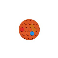 Roof Brick Colorful Red Roofing 1  Mini Magnets