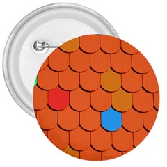 Roof Brick Colorful Red Roofing 3  Buttons