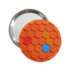 Roof Brick Colorful Red Roofing 2 25  Handbag Mirrors
