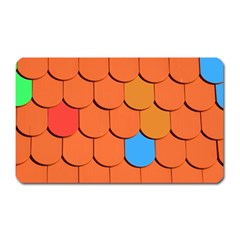 Roof Brick Colorful Red Roofing Magnet (rectangular)