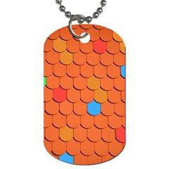 Roof Brick Colorful Red Roofing Dog Tag (One Side)