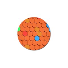 Roof Brick Colorful Red Roofing Golf Ball Marker (4 pack)