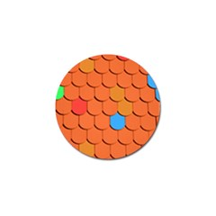 Roof Brick Colorful Red Roofing Golf Ball Marker (10 Pack)