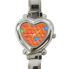Roof Brick Colorful Red Roofing Heart Italian Charm Watch