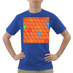 Roof Brick Colorful Red Roofing Dark T-Shirt