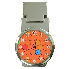 Roof Brick Colorful Red Roofing Money Clip Watches