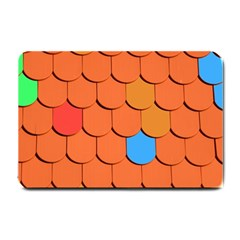 Roof Brick Colorful Red Roofing Small Doormat