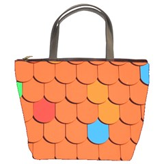 Roof Brick Colorful Red Roofing Bucket Bags