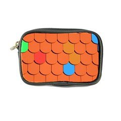 Roof Brick Colorful Red Roofing Coin Purse