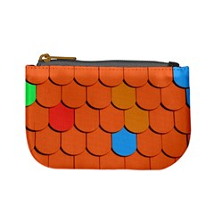Roof Brick Colorful Red Roofing Mini Coin Purses