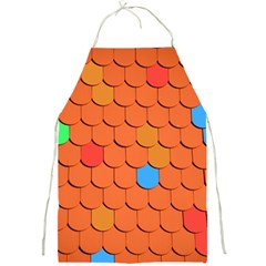 Roof Brick Colorful Red Roofing Full Print Aprons