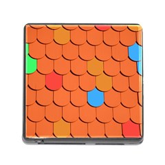 Roof Brick Colorful Red Roofing Memory Card Reader (square)