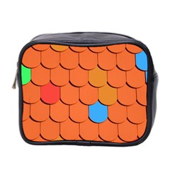 Roof Brick Colorful Red Roofing Mini Toiletries Bag 2 Side
