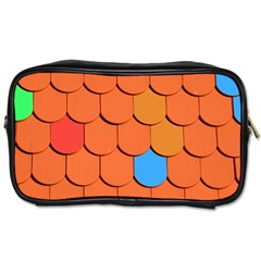 Roof Brick Colorful Red Roofing Toiletries Bags 2-Side